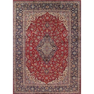 """Najafabad Floral Medallion Traditional Hand Made Wool Persian Area Rug - 13'5"""" x 9'10"""""""