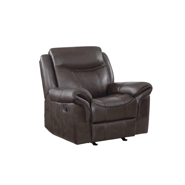 Etheridge Transitional Cocoa Glider Recliner