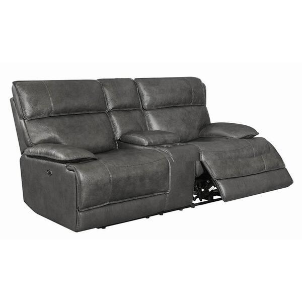 Pleasing Shop Delamonte Charcoal Bluetooth Power 2 Loveseat Free Customarchery Wood Chair Design Ideas Customarcherynet
