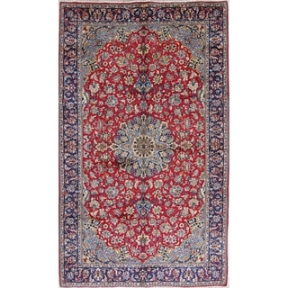 """Najafabad Floral Medallion Traditional Hand Made Wool Persian Area Rug - 10'1"""" x 6'9"""""""