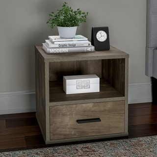 Porch & Den Libby Stackable Modular Cube Accent End Table with Drawer