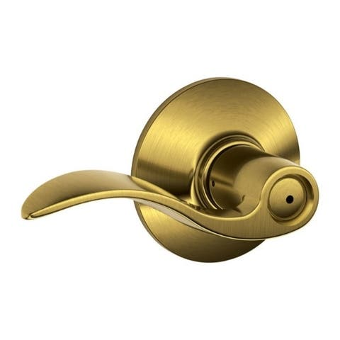 Schlage Accent Antique Brass Brass Privacy Lever 2 Grade Right or Left Handed