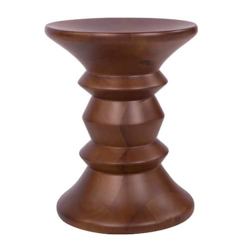 LeisureMod Madison Modern Walnut-finish Wood Side Table