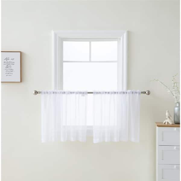 Shop Sheer Voile Window Curtain Panels Café Tier Valance ...