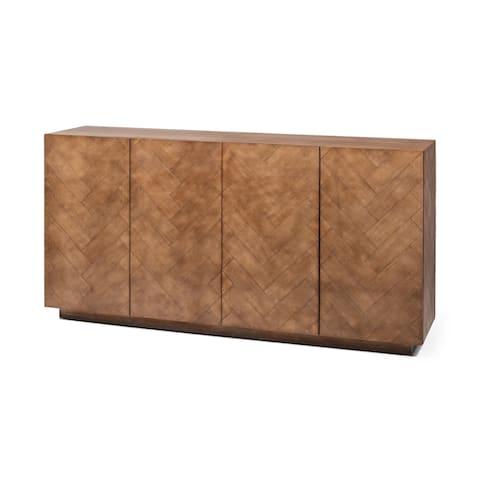Mercana McKenna Brown Wood Sideboard