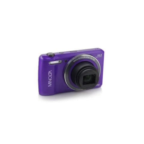 Minolta 20 Mega Pixels Wifi Digital Camera with 12x Optical Zoom & HD Video with 2.7-Inch LCD, Purple (MN12Z-P)