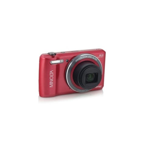 Minolta 20 Mega Pixels Wifi Digital Camera with 12x Optical Zoom & HD Video with 2.7-Inch LCD, Red (MN12Z-R)