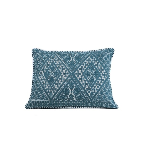 In-Sattva Home Indian Palace Hand-Embellished Cotton Cushion Cover Decorative Pillow