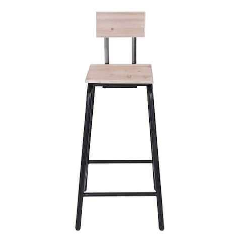 Nell Black Industrial Bar Stool