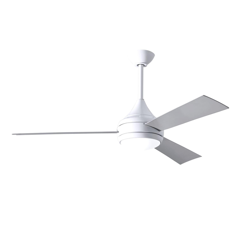 3 Blade 52 Inch Gloss White Paddle Fan
