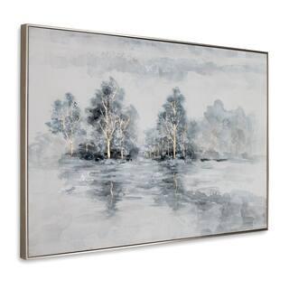 Winter's Woods Framed Canvas