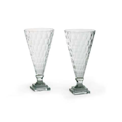 Hip Vintage Geneva Gorgeous Glass Hurricanes (Set of 2)