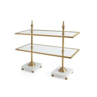 Link to Hip Vintage Valencia Antique Brass Tiered Stand Similar Items in Serveware