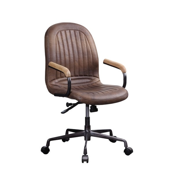 Acis Executive Office Chair in Vintage Chocolate Top Grain Leather