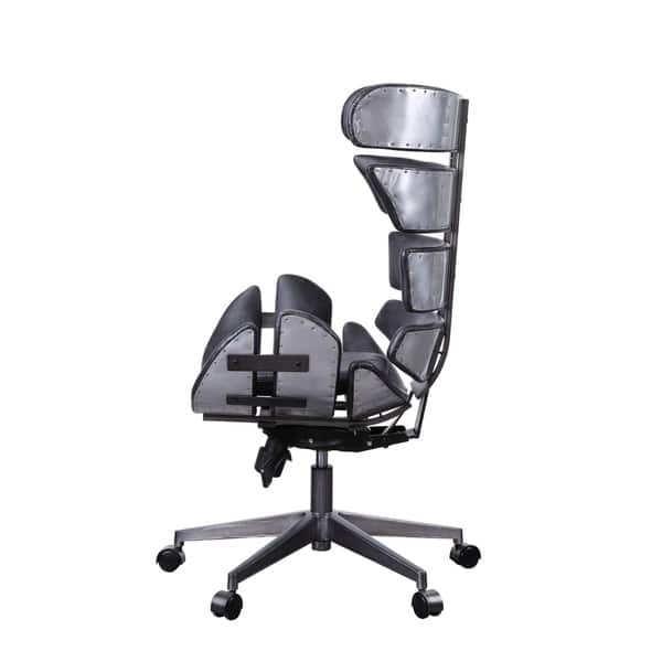 Pleasing Shop Megan Executive Office Chair In Vintage Black Top Grain Ncnpc Chair Design For Home Ncnpcorg