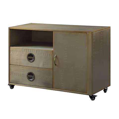 Jennavieve Cabinet in Gold Aluminum