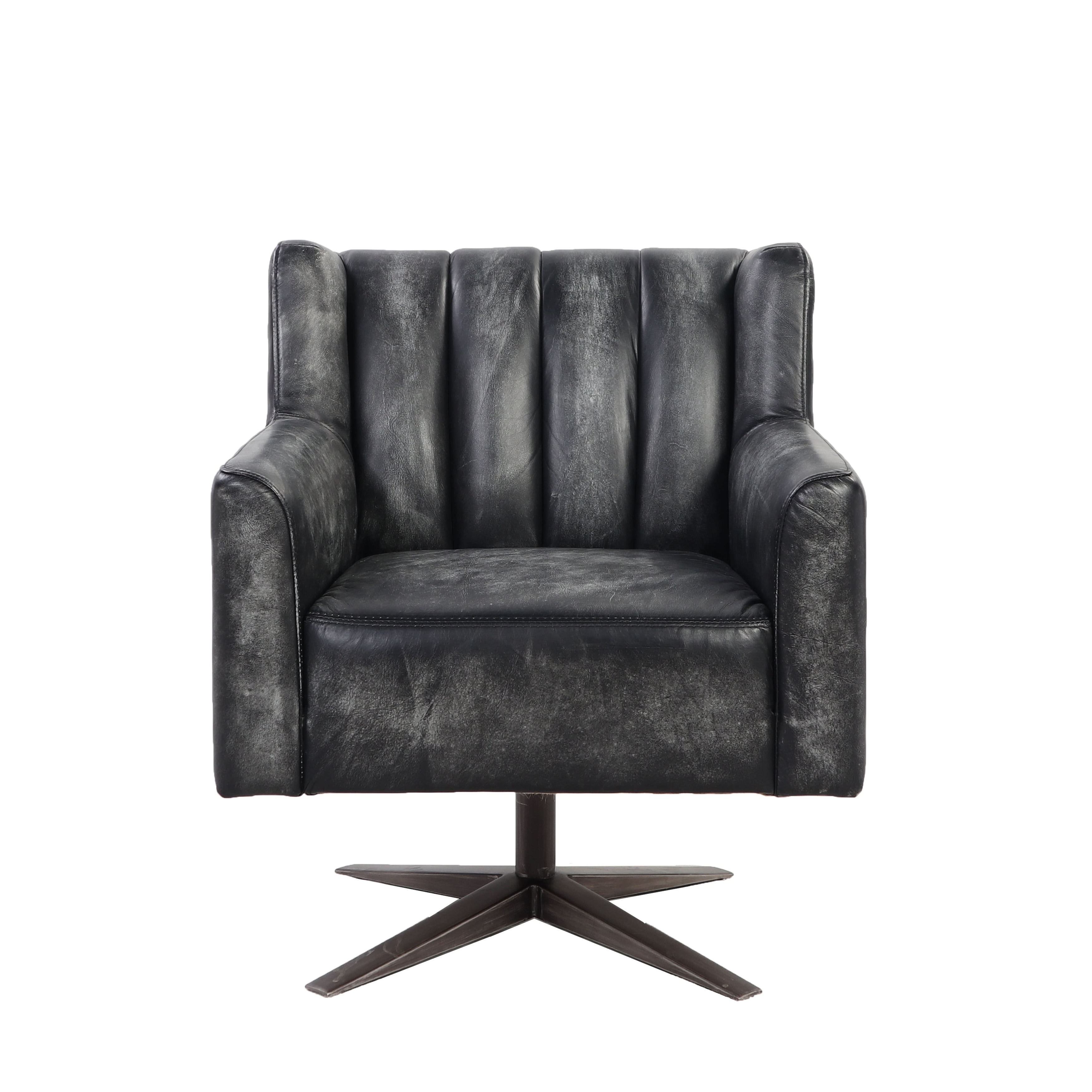 Brancaster Executive Office Chair In Vintage Black Top Grain Leather On Sale Overstock 27798495
