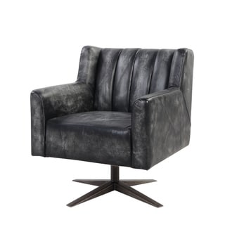 Brancaster Executive Office Chair in Vintage Black Top Grain Leather