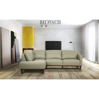 ACME Tampa Sectional Sofa in Airy Green Leather