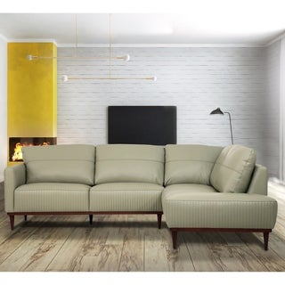 ACME Tampa Sectional Sofa in Airy Green Leather | Overstock.com Shopping -  The Best Deals on Sectional Sofas