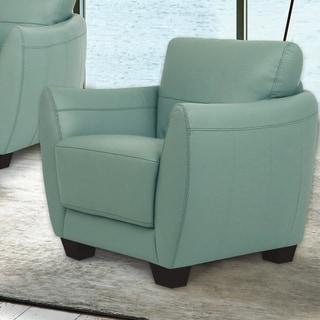 Copper Grove Saidiyya Seam Leather Chair
