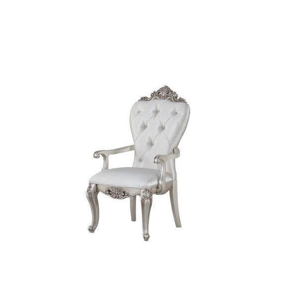 acme-gorsedd-arm-chair-(set-of-2)-in-cream-fabric-and-antique-white by acme