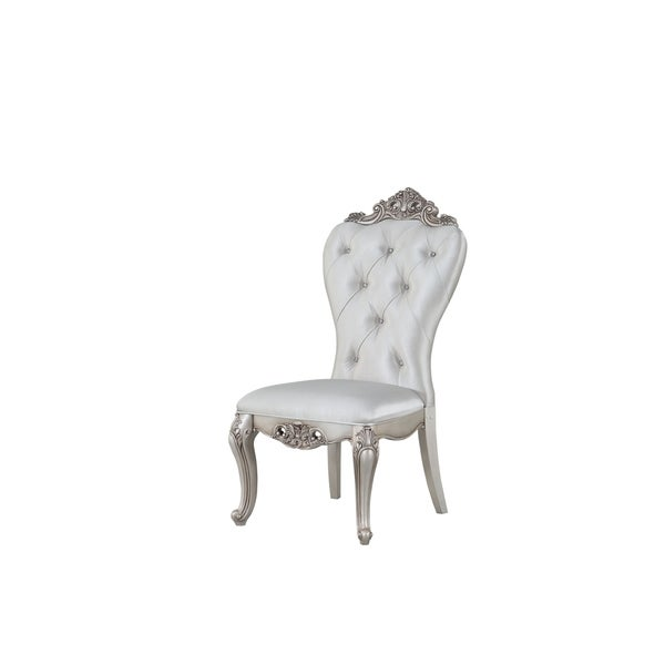 acme-gorsedd-side-chair-(set-of-2)-in-cream-fabric-and-antique-white by acme
