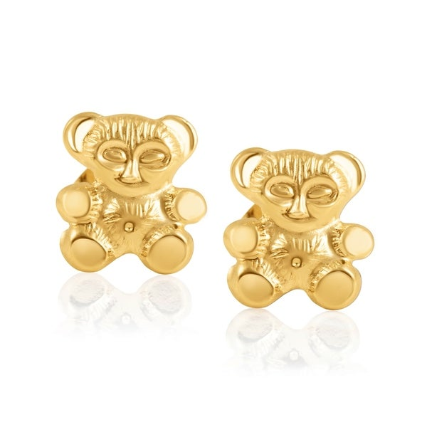 05da3ebbf4e5d Shop 14KT Gold Childrens Screwback Baby Girl Stud Earrings ...