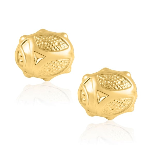 bac0d1ce55548 Shop 14KT Yellow Gold Flower Children's and Baby Girls Stud Earrings ...