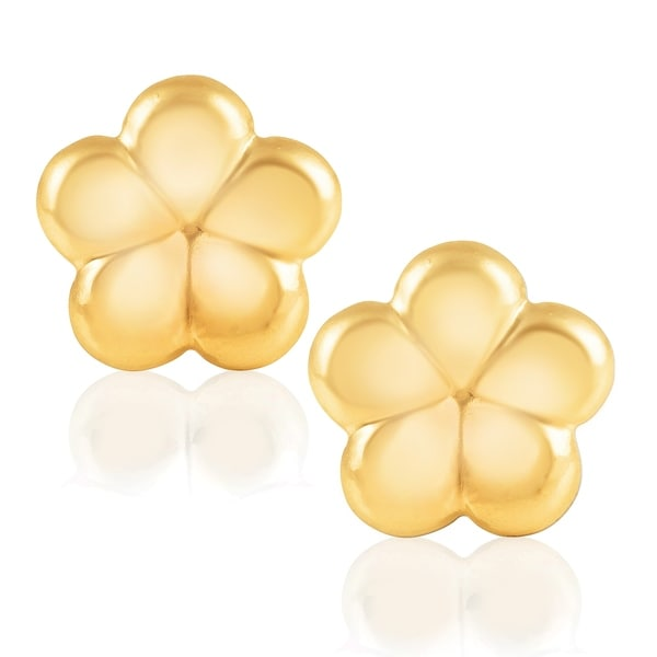 618703eb3 14KT Yellow Gold Butterfly Children's and Baby Girls Stud Earrings  Version Two
