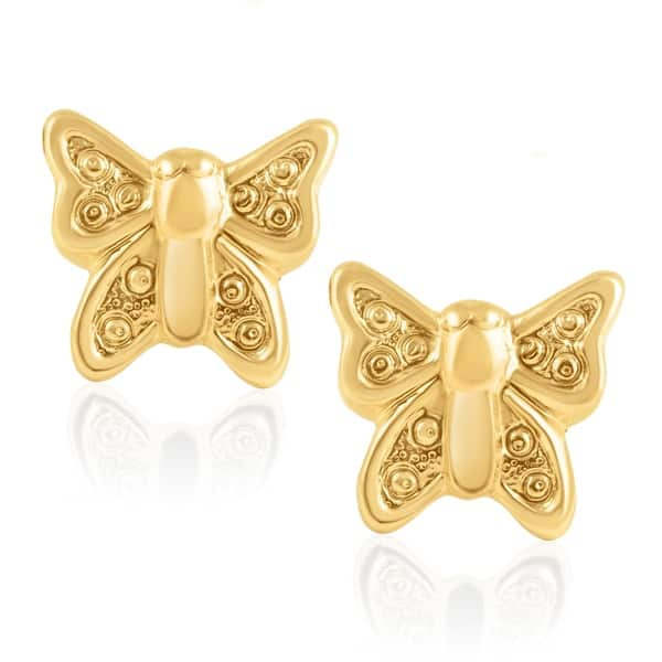 f615938deee40 Shop 14KT Yellow Gold Teddy Bear Children's and Baby Girls Stud ...