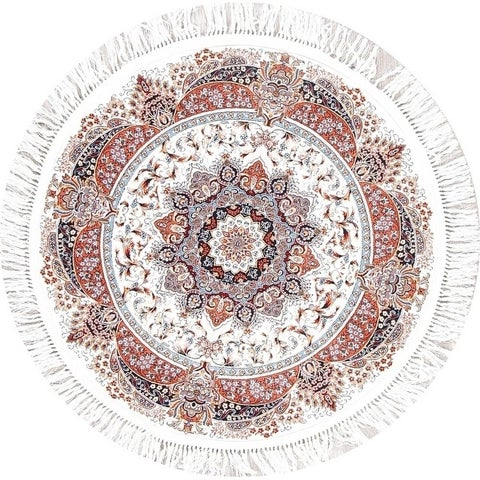 Copper Grove Karksi Heat-set Floral Wool/ Acrylic Rug - 3'3 Round