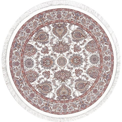 Copper Grove Torva Heat-set Floral Wool/ Acrylic Area Rug - 6'7 Round