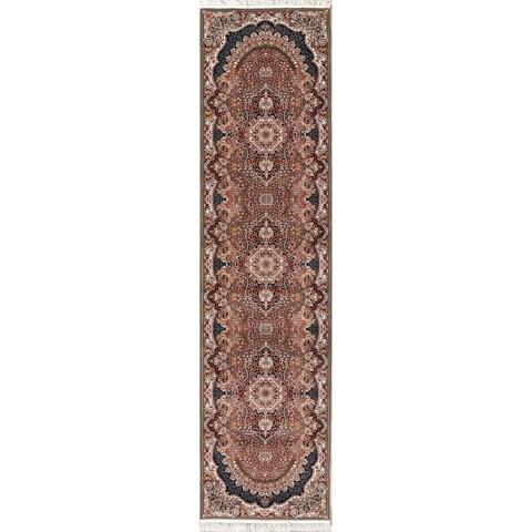 Copper Grove Paldiski Heat-set Floral Wool/ Acrylic Runner Rug - 3'4 x 13'