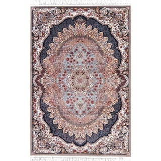 "Copper Grove Rapina Heat-set Floral Wool/ Acrylic Area Rug - 7'5"" x 5'0"""