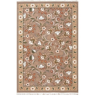 "Gracewood Hollow Vidart Jute Blend Floral Turkish Area Rug - 7'5"" x 4'11"""