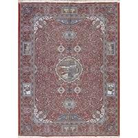 "Copper Grove Hornbaek Geometric Pictorial Acrylic Wool Persian Oriental Area Rug - 12'6"" x 9'7"""