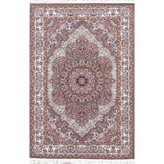 "Copper Grove Otepaa Heat-set Floral Wool/ Acrylic Area Rug - 7'5"" x 5'0"""