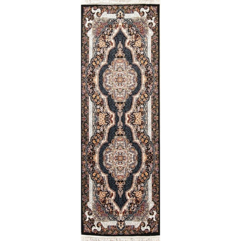 """The Curated Nomad Concord Tabriz Floral Transitional Wool/ Acrylic Turkish Oriental Rug - 9'10"""" x 3'4"""" Runner"""