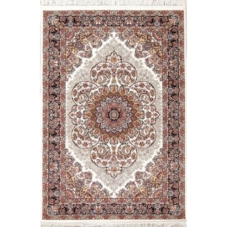 "Gracewood Hollow Kalynets Floral Wool Blend Area Rug - 7'3"" x 5'0"""