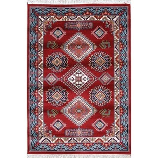 "Copper Grove Kjellerup Geometric Polyester Jute Turkish Oriental Area Rug - 7'5"" x 5'0"""