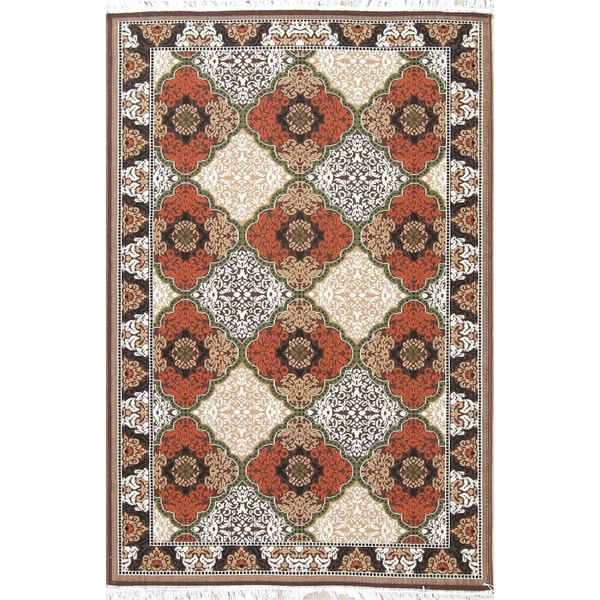 """Copper Grove Jyderup All-Over Geometric Polyester Jute Turkish Area Rug - 7'4"""" x 4'11"""""""