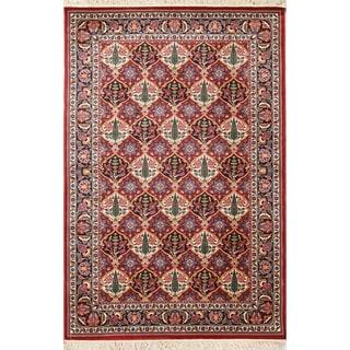"Copper Grove Miamilia Bakhtiari Turkish Oriental All-over Floral Polyester Jute Area Rug - 7'6"" x 5'0"""