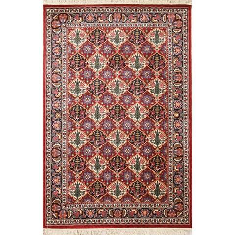 Copper Grove Miamilia Bakhtiari Turkish Oriental All-over Floral Polyester Jute Area Rug - 7'6 x 5'