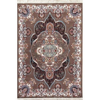 "Copper Grove Ronde Oushak Medallion Geometric Polyester Jute Turkish Oriental Area Rug - 10'0"" x 6'6"""