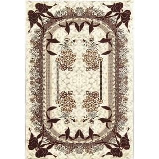 "Gracewood Hollow Arrascaeta Jute Blend Floral Turkish Area Rug - 7'0"" x 5'4"""