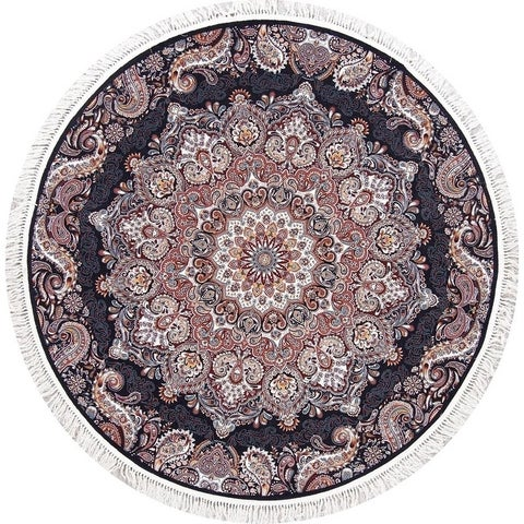 Copper Grove Turi Heat-set Floral Medallion Wool/ Acrylic Area Rug - 6'6 Round