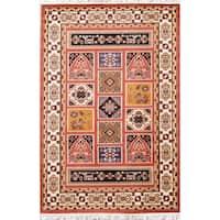 "Copper Grove Tsakistra Gabbeh Geometric Polyester Jute Turkish Oriental Area Rug - 7'5"" x 4'11"""