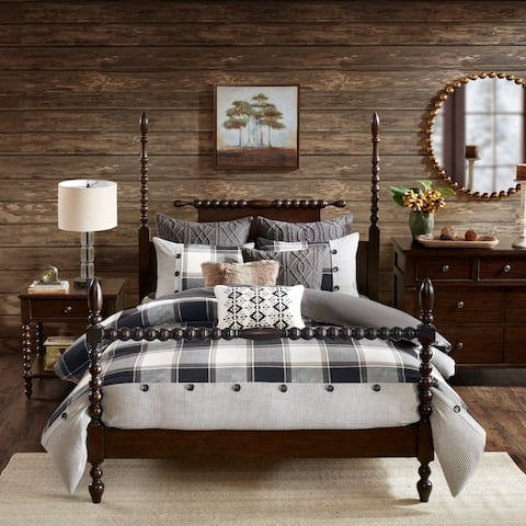 Madison Park Signature Urban Cabin Brown Cotton Jacquard Comforter Set