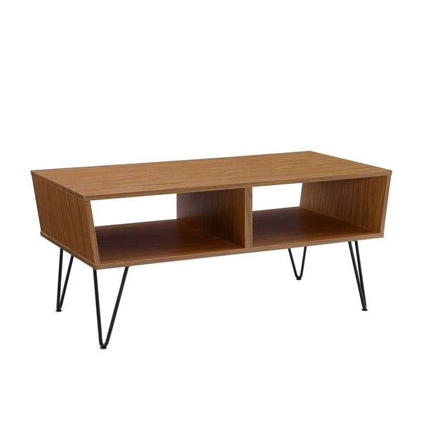 "Coffee Table Angled Legs: Shop 42"" Angled Coffee Table With Hairpin Legs"